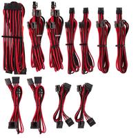 Corsair Premium Individually Sleeved PSU Cables Pro Kit Type 4 Gen 4, Red/Black - Noir,Rouge