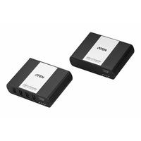 ATEN USB / Convert. 4-Port USB 2.0 Cat5e/6 Extender . 100meter over 1 Cat5e/6 cable AV extenders - Zwart,Wit