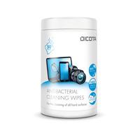 Dicota Antibacterial Surface Cleaning Wipes Tub 50 pieces Lingette de nettoyage de bureau - Blanc