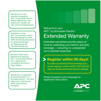APC Service Pack 3 Year Warranty Extension (for new product purchases) Extension de garantie et support