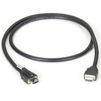 Black Box Cordon HDMI à verrouillage à HDMI standard - Noir