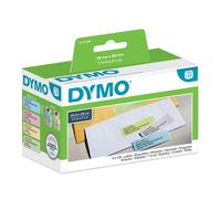 DYMO LW - Labels in verschillende kleuren - 28 x 89 mm - S0722380 Etiket - Geel,Roze,Blauw,Groen