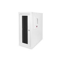 Digitus Computer case with levelling feet, 670x300x600 mm inner dim. 581x292x550mm, glass door, fan, RAL7035 .....