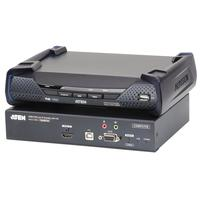 Aten 3840x2160 30Hz, USB, HDMI, DB-9, 3.5mm, RJ-45, SFP, DC - Zwart