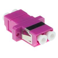 ACT Fiber optic LC-LC duplex adapter OM4 - Violet