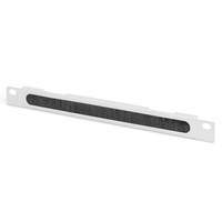 """Digitus 254 mm (10"""") 0.5U cable brush management panel 22x254x12 mm, color grey (RAL 7035) Patch panel ....."""
