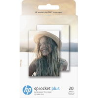 HP Sprocket Plus-20 zelfklevende vellen/5,8 x 8,7 cm (2,3 x 3,4 inch) Fotopapier - Wit