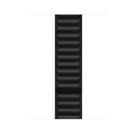 Apple Leather Link-bandje - Middernacht (45 mm) - M/L - Zwart