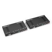 Black Box 4K/UHD, HDCP 2.2, HDMI, RJ-45, IR, 3-pin Phoenix, 173x94.8x21 mm Rallonges AV - Noir