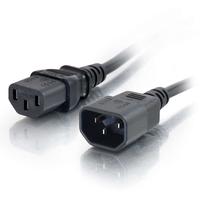 C2G Cordon d'extension d'alimentation pour ordinateur AWG 18 (IEC320C13 à IEC320C14) de 0,5M Cordon .....
