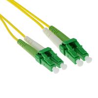 ACT 10m LSZH Singlemode 9/125 OS2 glasvezel patchkabel duplexmet LC/APC8 connectoren Fiber optic kabel - Groen,Geel