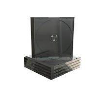 MediaRange CD Jewelcase for 1 disc, 10.4mm, black tray, Pack 5 - Zwart,Transparant