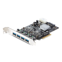 StarTech.com 4 poorts USB 3.1 (10Gbps) kaart 4x USB-A met twee onafhankelijke kanalen PCIe Interfaceadapter .....