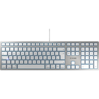 CHERRY KC 6000 SLIM FOR MAC filaire pour Mac, blanc/argent, USB - FR - AZERTY Clavier