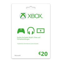 Microsoft Xbox LIVE Gift Card 20€ Cadeaubon