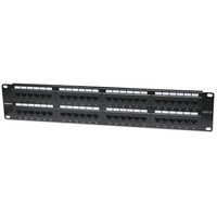 Intellinet Patch Panel, Cat6, UTP, 48-Port, 2U, Black Patchpaneel - Zwart