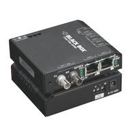 Black Box Convertisseur-switch 10/100 durci Convertisseur réseau média - Noir