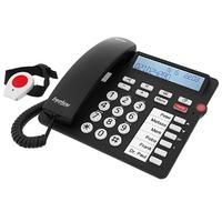 Tiptel User-friendly comfort telephone with radio emergency call transmitter DECT-telefoon - Zwart