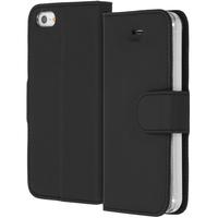 Accezz Wallet Softcase Booktype iPhone SE / 5 / 5s - Zwart / Black