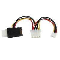 StarTech.com LP4 naar SATA Verloopkabel Voeding met Floppy-aansluiting - Zwart,Rood,Wit,Geel