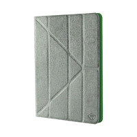 """Mosaic Theory Universal tablet case pu leather for tablet 9-10"""" grey/green - Transparant"""