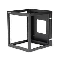 "StarTech.com 12U scharnierend Open Frame server rack wandmontage 22"" diep Stellingen/racks - Zwart"
