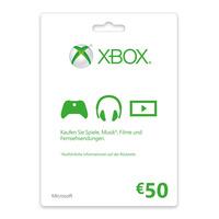 Microsoft Xbox LIVE Gift Card 50€ Cadeaubon