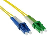 ACT 3m LSZH Singlemode 9/125 OS2 glasvezel patchkabel duplexmet LC/APC en LC/UPC connectoren Fiber optic kabel - Geel