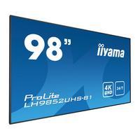 Iiyama 98'' Professioneel Digital Signage display met 24/7 gebruiksduur, 4K UHD resolutie en een OPS slot .....