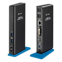 I-tec USB 3.0 Dual Docking Station HDMI DVI Docks & port replicator - Zwart