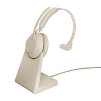 Jabra Evolve2 65 HS+Stand MS Mono Beige Headset