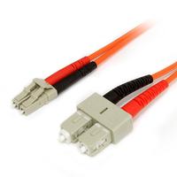 StarTech.com Câble patch à fibre optique duplex 62,5/125 multimode 1 m LC - SC Câble de fibre optique
