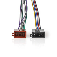 Nedis Sony 16-Pin ISO Cable | Radio connector - 2x Car connector | 0.15 m | Multi-Colour