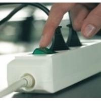 Brennenstuhl Eco-Line + switch & 1,5 mm² Ø Cable Protecteur tension - Gris