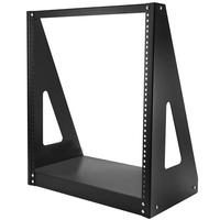 StarTech.com Heavy-duty rack met 2 stijlen Stevig open-frame serverkast 12U Stellingen/racks - Zwart