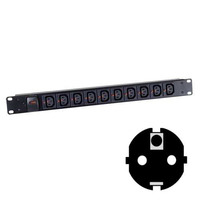 Black Box Click-Lock C13 Power Strips Energiedistributie - Zwart