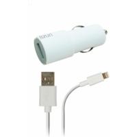 Azuri Autolader met Apple lightning connector - wit PDA/GPS/mobiele telefoon accessoire