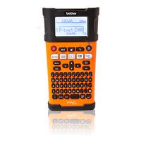 Brother PT-E300VP - 180 dpi, 20 mm / sec, , LCD, 740g - QWERTY Imprimante d'étiquette - Noir, Orange