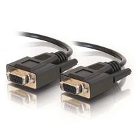 C2G 2m DB9 Cable Seriële kabel - Zwart
