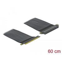 DeLOCK Riser Card PCI Express x16 to x16 with flexible cable 60 cm Câble - Noir