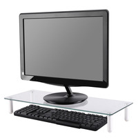 Newstar NSMONITOR10 is een monitor standaard voor flat-panel en CRT-monitoren. Laptop steun - Transparant