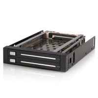 StarTech.com 2-Bay 2,5 inch Hot-Swappable SATA Mobile Rack Backplane Drive bay paneel - Zwart
