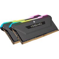 Corsair 32 GB ( 2 x 16 GB ), DDR4, 3200 MHz, C16, XMP 2.0, 44 mm, Black RAM-geheugen