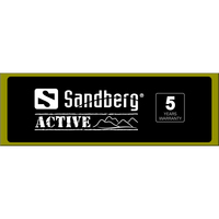 Sandberg Header for Alu Slatwall Active - Zwart, Groen, Wit