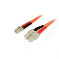 StarTech.com Câble patch à fibre optique duplex 50/125 multimode 2 m LC - SC Câble de fibre optique