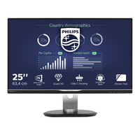 Philips Brilliance LCD-monitor met USB-C-dock 25'' TFT monitor - Zwart