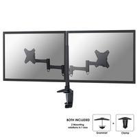 Newstar Support de bureau écrans plat pour 2 écrans - jusqu'à 27'' Support d'écran - Noir