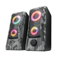 Trust GXT 606 Javv - Speaker Set - 2.0 - RGB Luidspreker - Zwart,Grijs