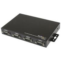 StarTech.com Professionele USB naar 4 Seriële Poort Adapter Hub met COM-behoud Interface hub - Zwart