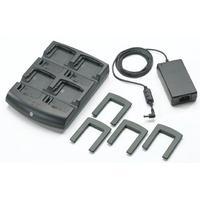 Zebra 4 Slot Battery Charger + Power Supply Chargeur de batterie - Noir